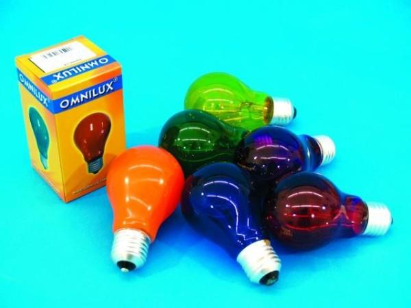 Glühlampe - Omnilux A19 - E27 - 40W - Violett