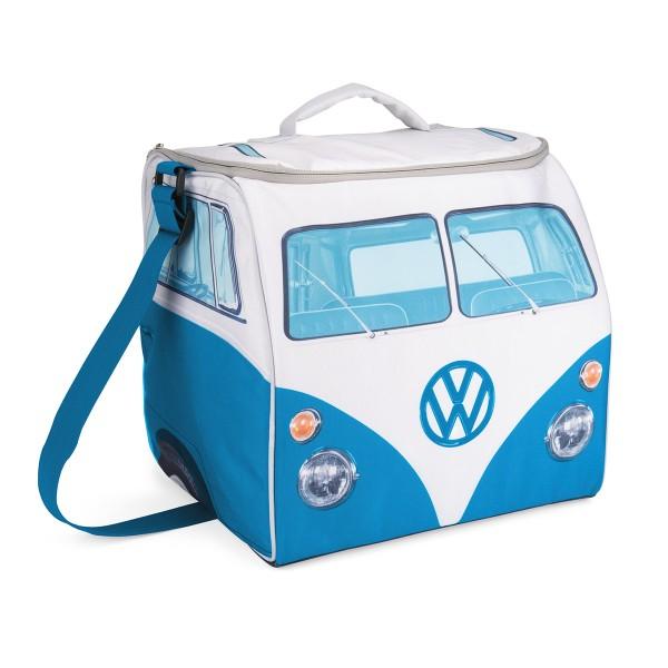 VW Collection - VW T1 Kühltasche groß BLAU - 30 Liter - 35x36x30cm - Isoliert & PU beschichtet