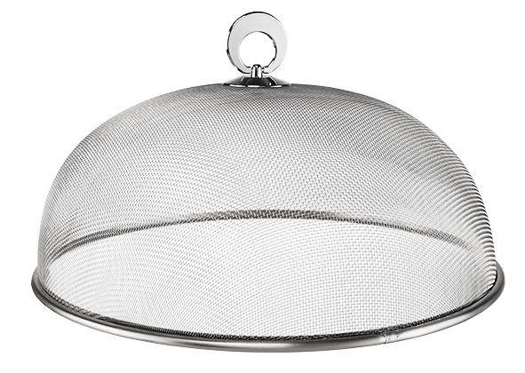 Abdeckhaube Edelstahl - 30cm Durchmesser - Ideal für den Grill