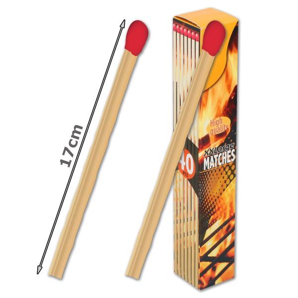 XXL Streichhölzer - 17cm - Ideal für Grill & Kamin - Sicherheitszündhölzer