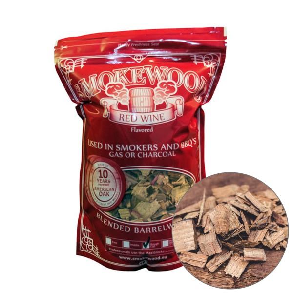 Smokewood Rotwein Rough Cut - Räucherholz aus alten Weinfässern