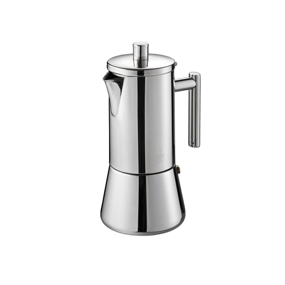 Espressokocher NANDO - 4 Tassen - Edelstahl - für alle Herdarten
