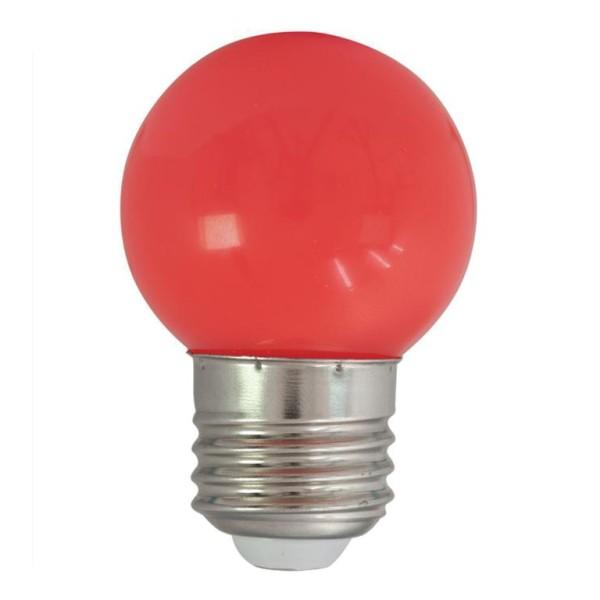 LED-Leuchtmittel | G45 - E27 | 1W | Rot