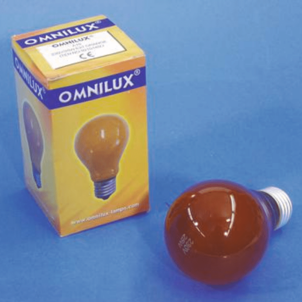Glühlampe - Omnilux A19 - E27 - 25W - Orange