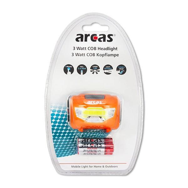 LED Kopflampe Stirnlampe ARCAS - 3W COB LED - inkl.. 3 AAA Batterien