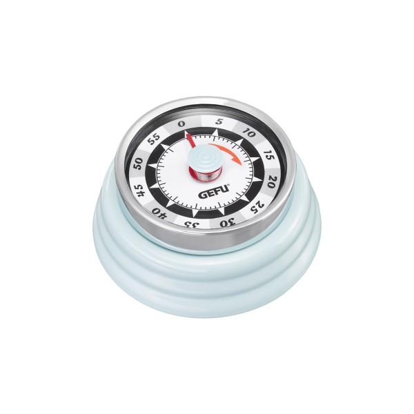 Küchentimer Kurzzeitmesser RETRO hellblau - mechanisch - magnetisch