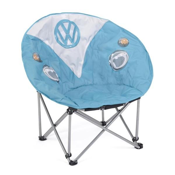 VW Collection - VW T1 Bus Sessel blau - faltbarer Stahlrahmen - max 100kg