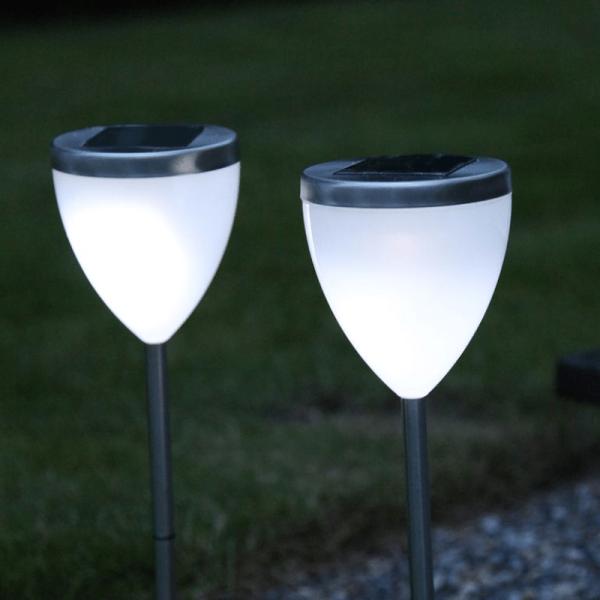 Wegleuchte - LED - Solar - Kunststoff - 46cm x 10cm
