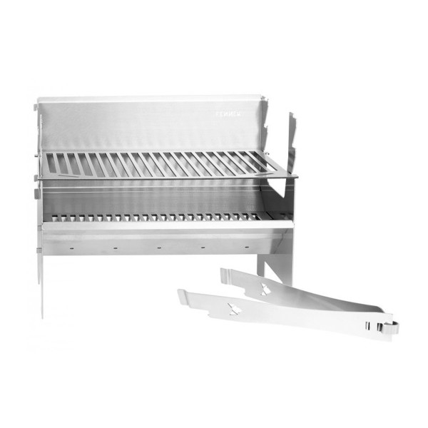 FENNEK 2.0 - Outdoor Grill - 100% Edelstahl - zerlegbar - Grillfläche 37,6 x 24,3cm