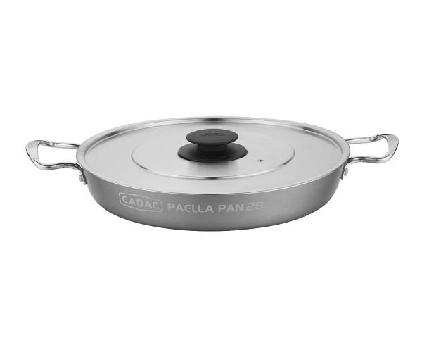 CADAC Paellapfanne 28cm - für CITI CHEF 40, GRILLO CHEF, 2-Cook, Safari Chef - beschichtet - Deckel