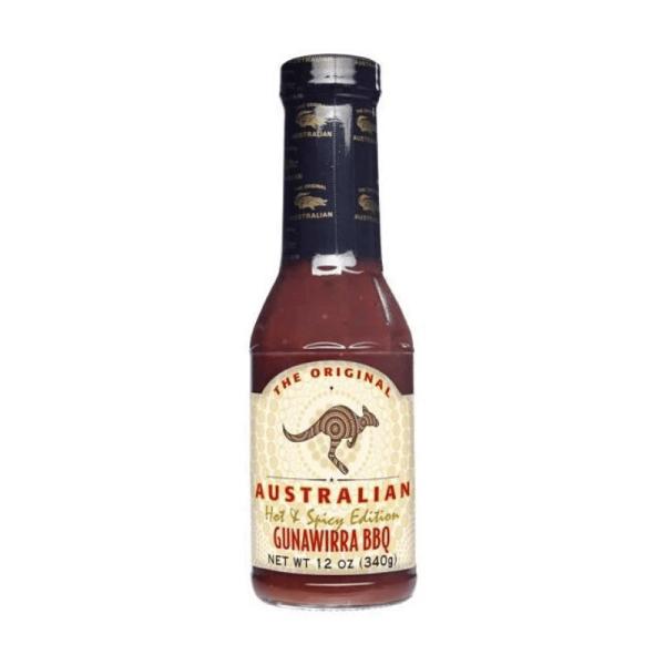 The Original Australian Hot & Spicy BBQ Sauce 355ml scharf mit rauchiger Note