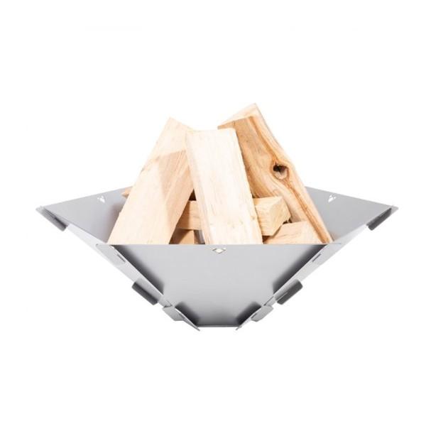 FENNEK Hexagon - Feuerschale zum Stecken aus 100% Edelstahl - 59x50x18,5cm