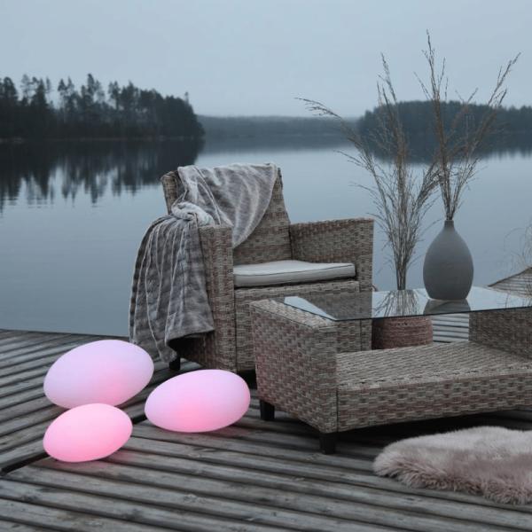 "LED-Stein ""Twilights"" - 40x21x30cm - RGB Wechsel/feste Farbe - Fernbedienung - Aufladbar - IP44 2"