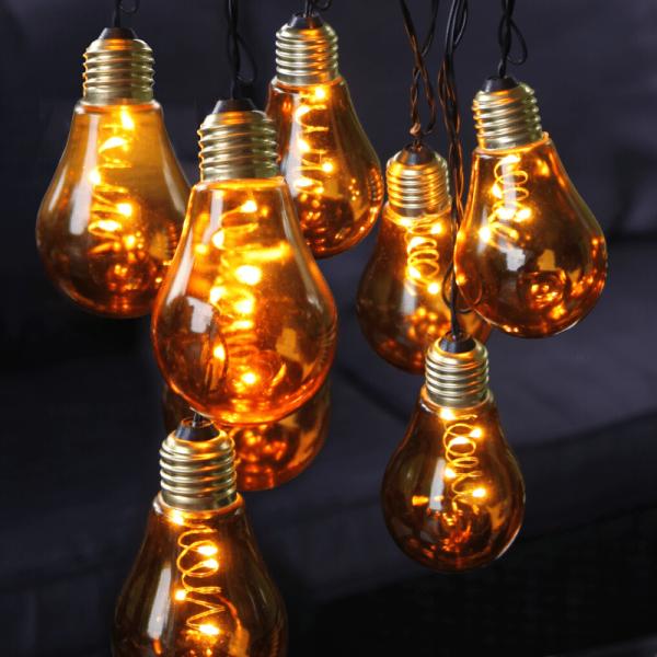 """LED Party Lichterkette """"Glow"""" - 10 warmweiße LED Glühbirnen - L: 3,6m - Indoor - gelb"""