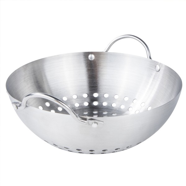 Mini Grill Wok - Grillschale - D: 20,5cm - H: 9cm - Edelstahl