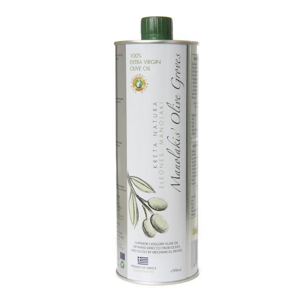 KretaNatura 500 ml Extra Natives Olivenöl aus Kreta (Stahlflasche)