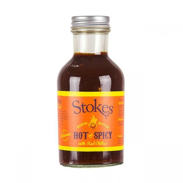 STOKES BBQ Sauce Hot & Spicy 267 ml mit angenehmen Schärfe