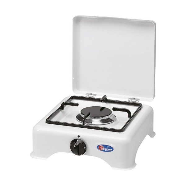 PARKER Einflammen Kocher - weiß emailliert - Zündsicherung - 2,8 kW