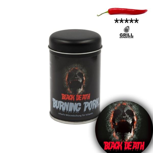 BLACK DEATH - BURNING PORK sehr scharfe Gewürzmischung - 120g Streuer
