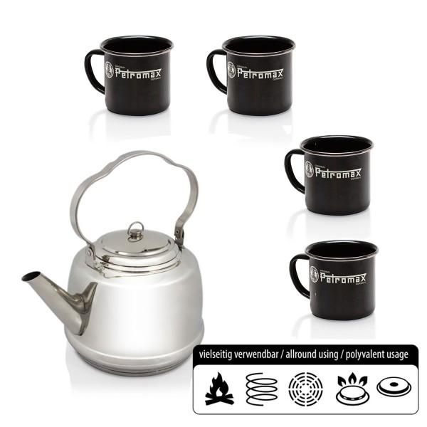 Petromax SET - Teekessel + 4 Kaffeebecher