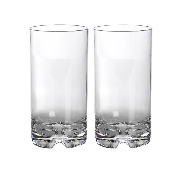 2 x Longdrinkglas aus bruchfestem Polycarbonat - 550ml