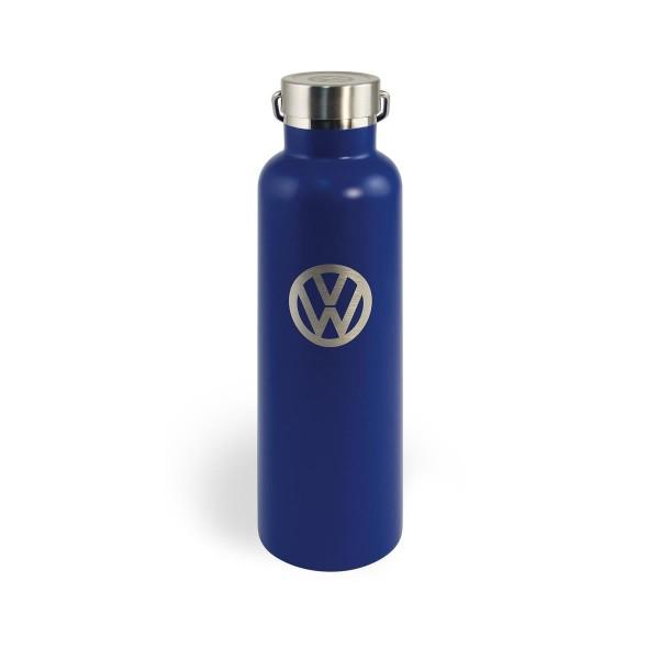 """Thermo Trinkflasche 735ml """"VW Volkswagen blau"""" - 18/24h Isolierung - Doppelwandig - 18/8 Edelstahl"""