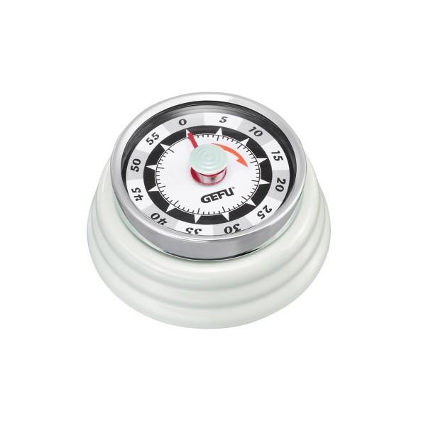 Küchentimer Kurzzeitmesser RETRO hellgrün - mechanisch - magnetisch
