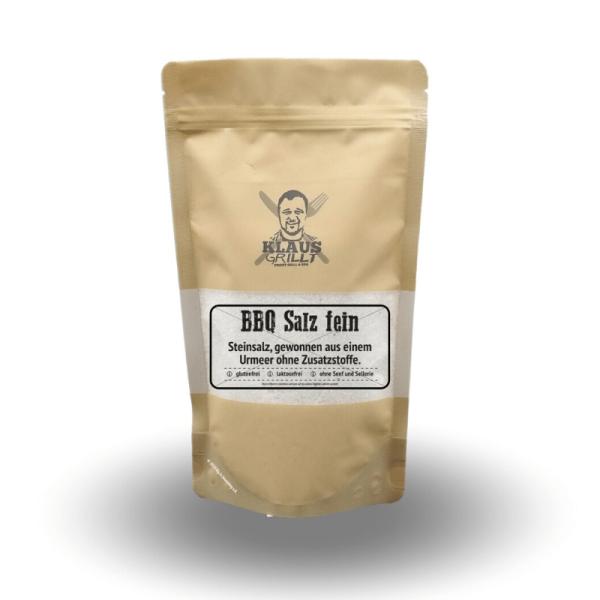 Klaus Grillt BBQ Salz fein 450 g Beutel Steinsalz