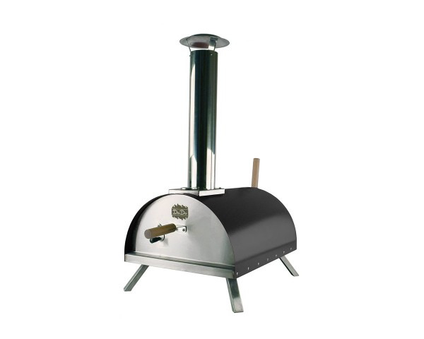 """CADAC Pizzaofen """"DADA"""" schwarz, Doppelwandiger Pellet-Steinbackofen - bis 450°C"""