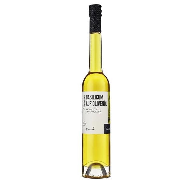 Wajos Basilikum auf Olivenöl – Nativ Extra – 100ml Flasche