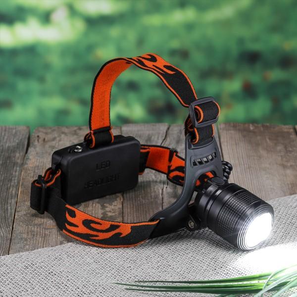 LED Kopflampe - kaltweiße LED - 250lm - 4,5 x 6-7,5cm - Akku